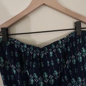 Pants - E & M Womens BoHo Strapless Tube Top Romper/Jumper